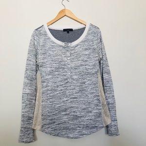 Sanctuary Sweatshirt & Lace Top Size L